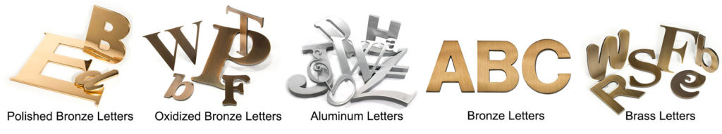 Metal letters Sign